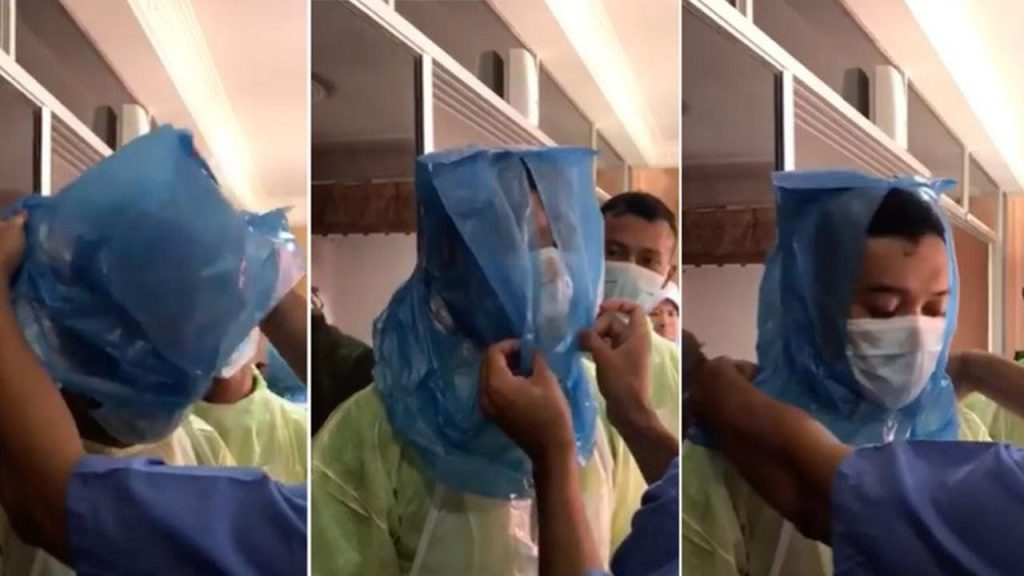 Viral Tenaga Medis di Malaysia Terpaksa Pakai Kantong Plastik Pengganti APD